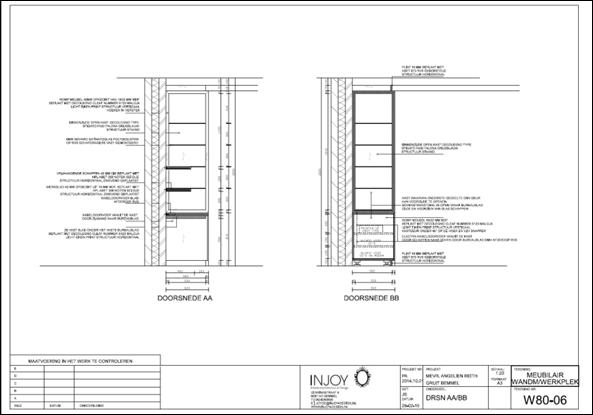 Renovatie woning met ingepaste werkruimte injoy - Meubelontwerp ...